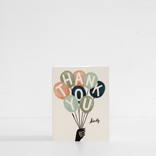 Thank You Balloons Card