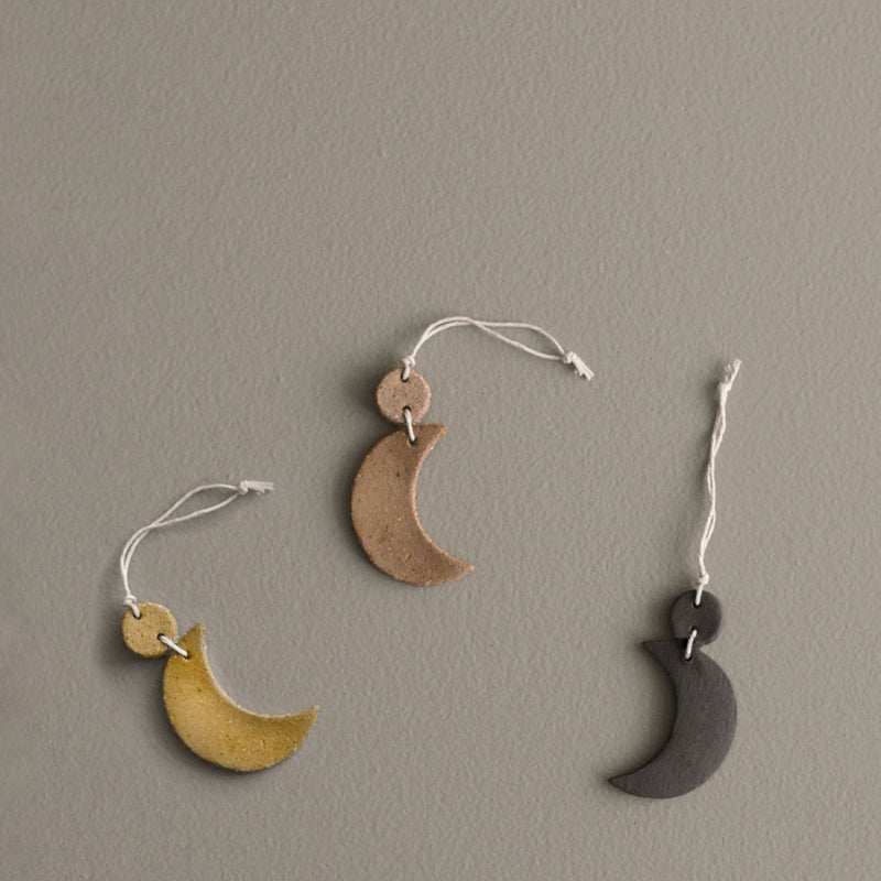 A&C X Claybird Crescent Decoration