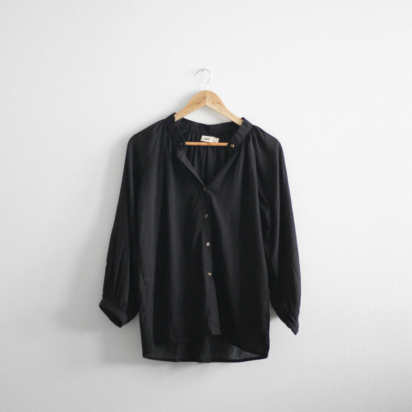 Charlotte Long Sleeve Blouse - Black
