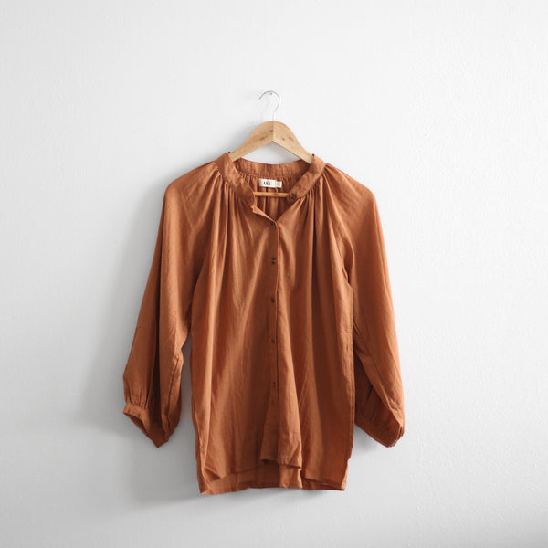 Charlotte Long Sleeve Blouse - Cinnamon
