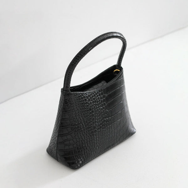 The Chloe -  Black Matte Croc