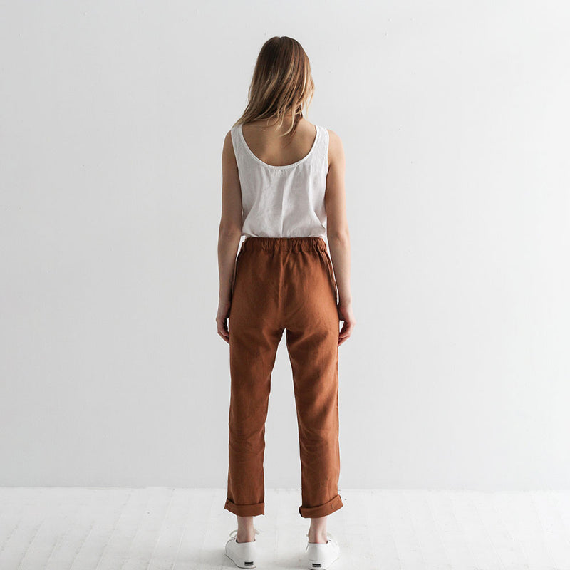 Chris Linen Pants - Cinnamon