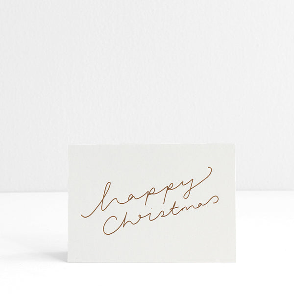 Happy Christmas Moon Card