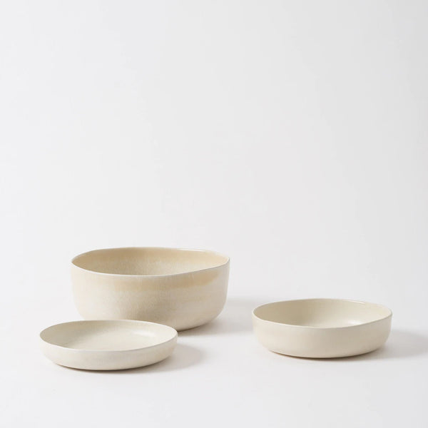 Milu Large Serving Bowl - Off White