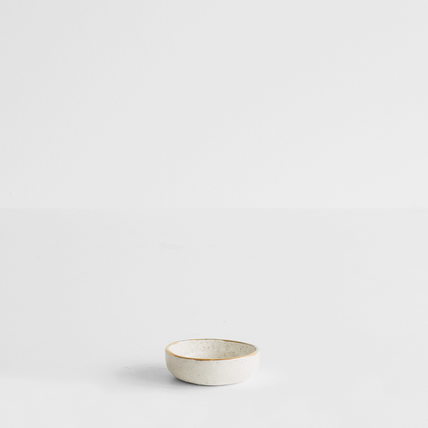 Sand Ramekin with Gold Rim