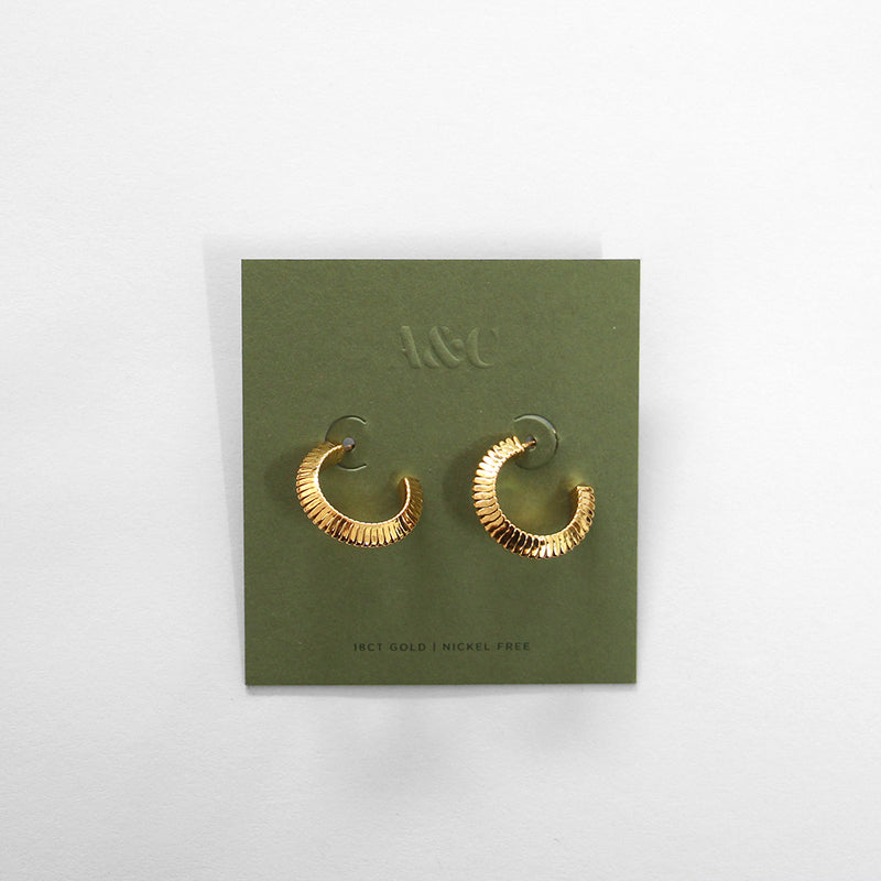 Cleo Gold Plated Earring