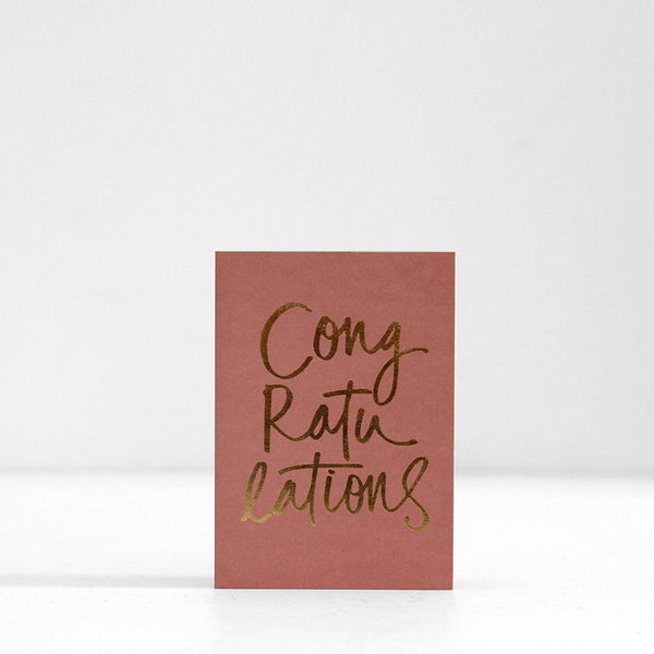 Congratulations Terra Rose Card