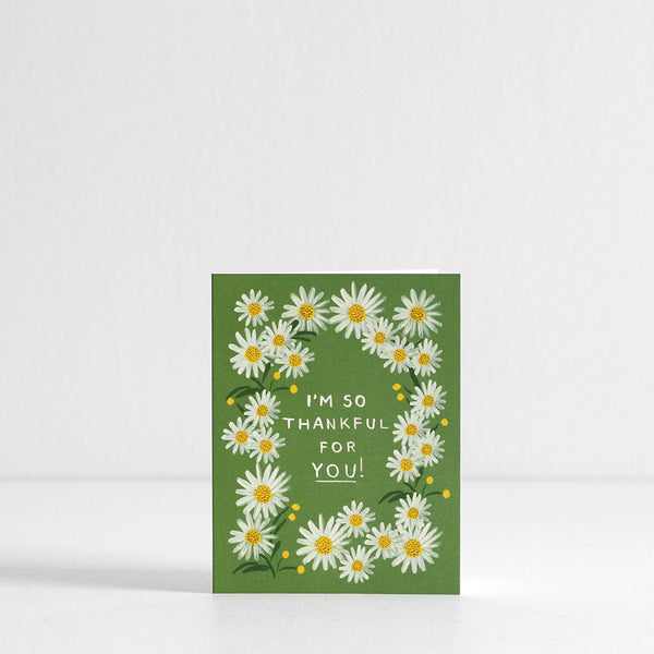 Daisies Thankful Card