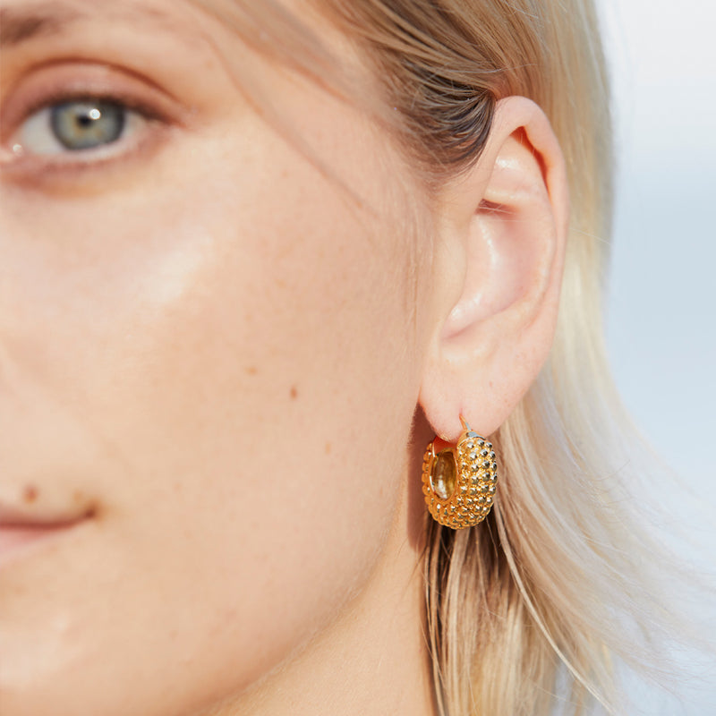 Deco Dot Gold Plated Earring