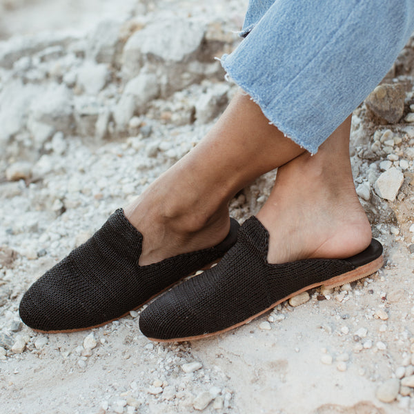 Desi Knit Loafer - Black