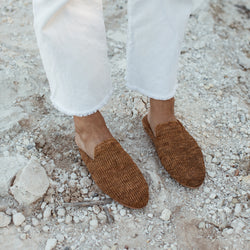 Desi Knit Loafer - Tan