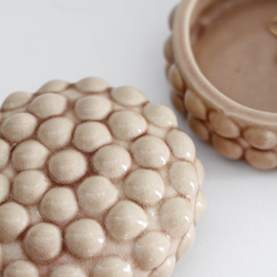 Dotty Deco Box - Cream / Tan