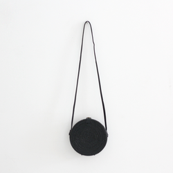 Echo Rattan Bag - Black