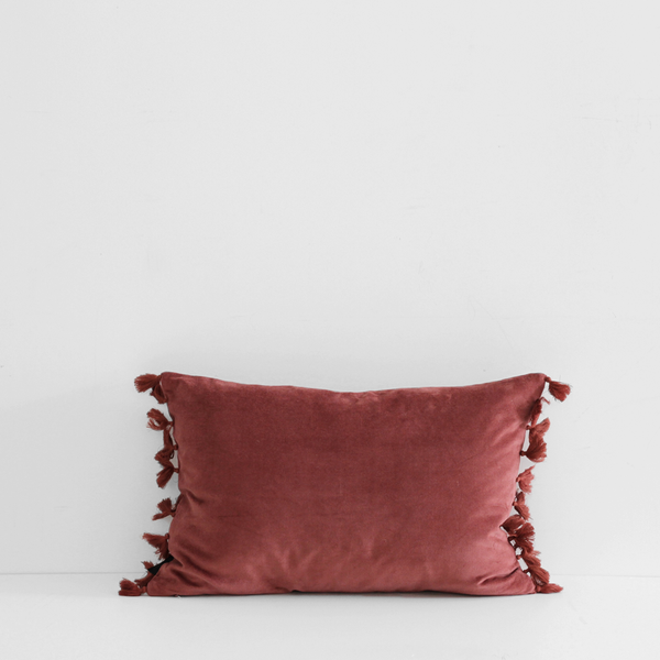 Esta Velvet Cushion - Marsala