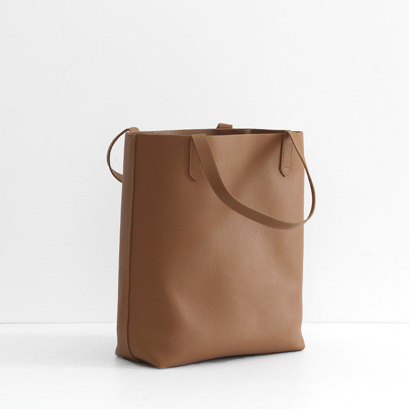 The Everyday Leather Tote - Tan