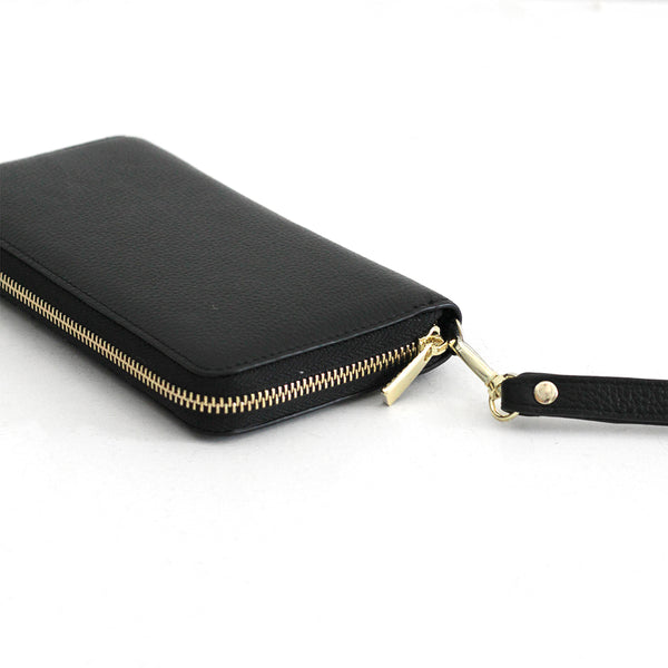 The Everyday Leather Wallet - Black
