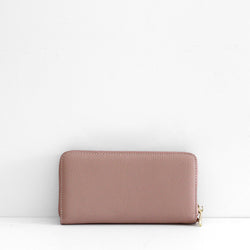The Everyday Leather Wallet - Pale Pink