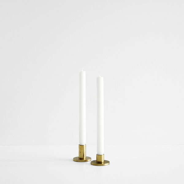 Classic Flat Top Candle - White