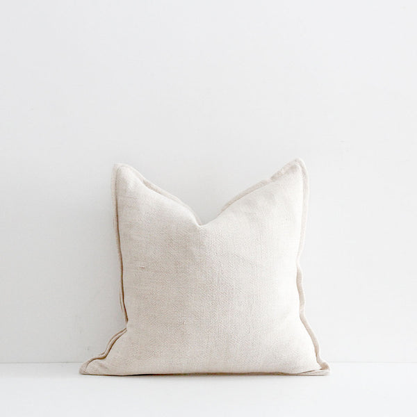 Flaxmill Cushion - Nude