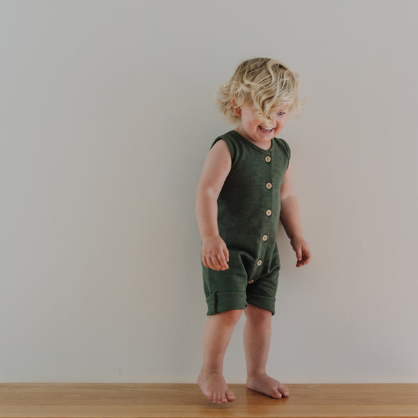 Fleece Jumpsuit - Moss