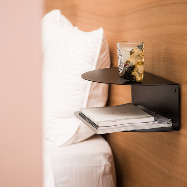 Fold Bedside Table - Black
