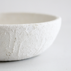 Genette Ceramic Bowl - Sea Foam White