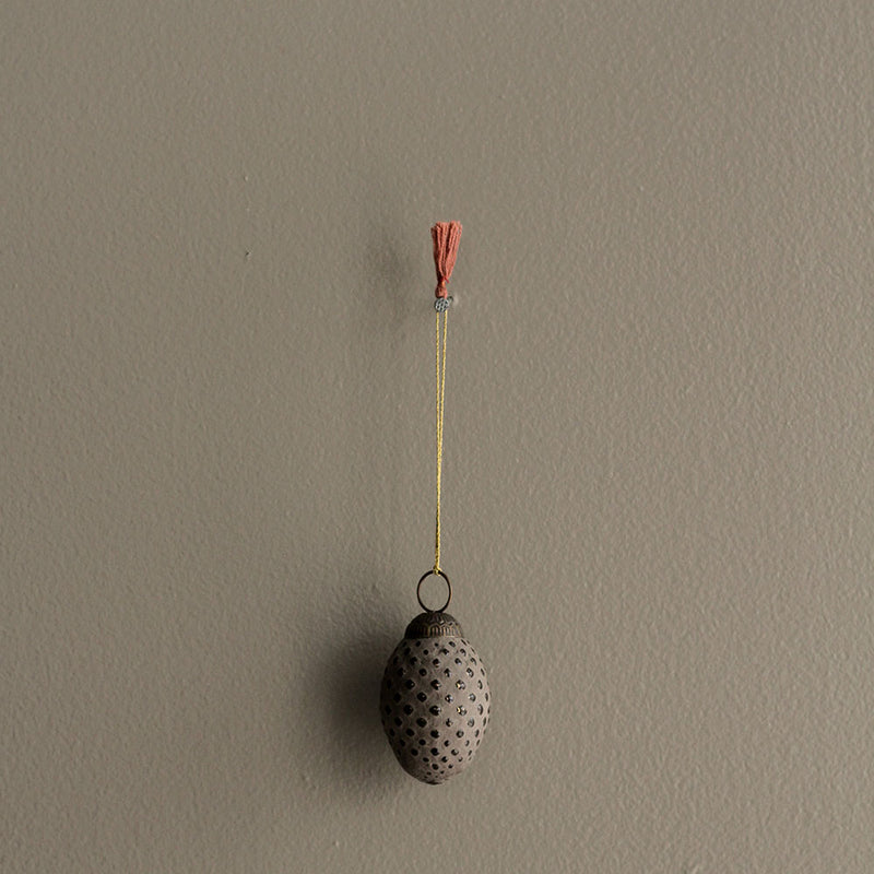 Hanging Glass Pinecone Decoration