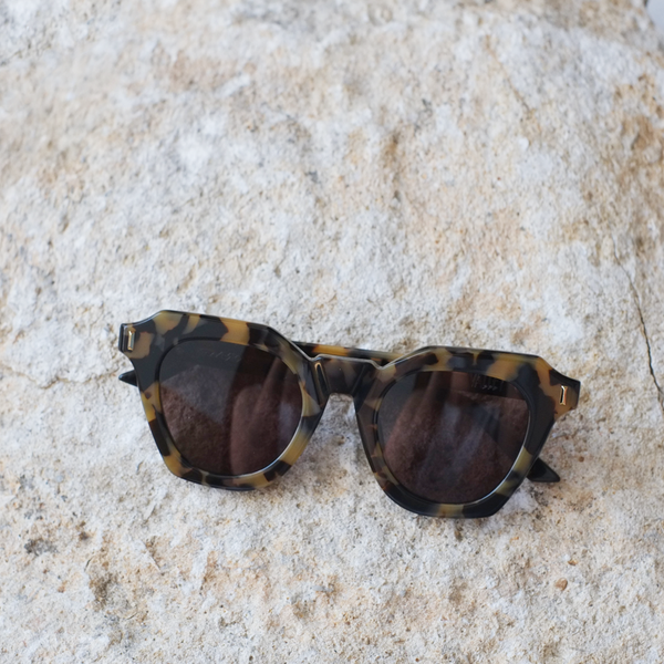 Gravestone Sunglasses - Yellow Tort