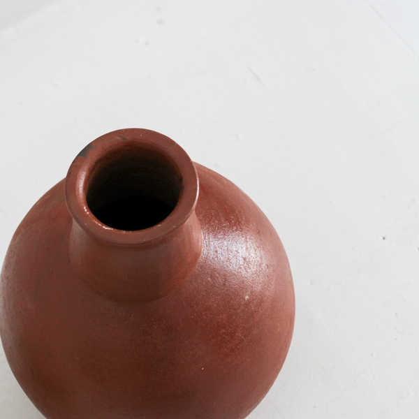 Greta Clay Vase - Terracotta