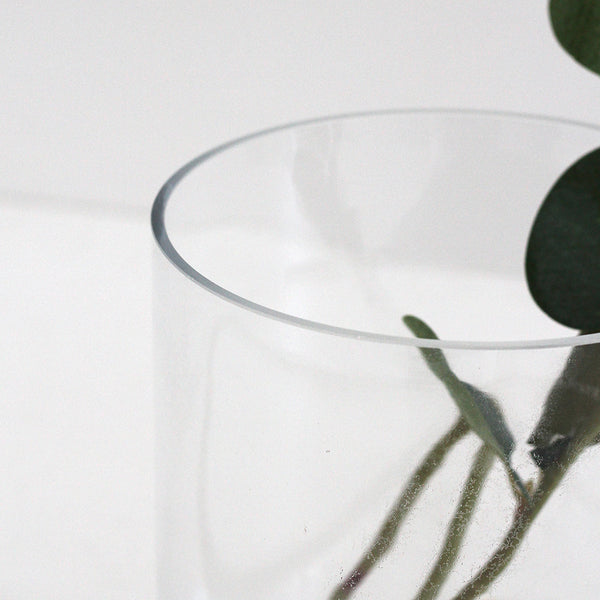Glass Cylinder Vase Short