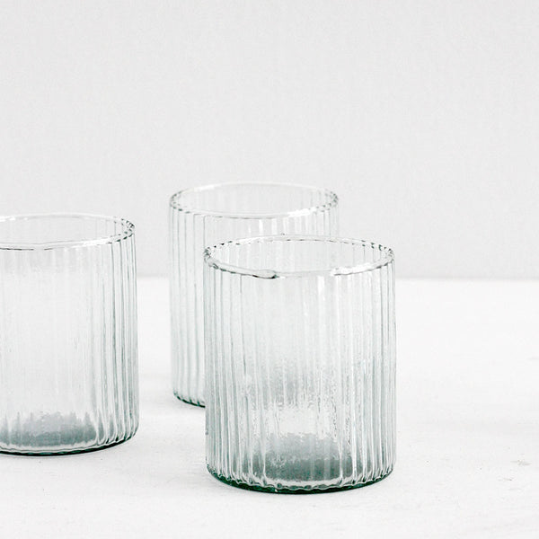 Grooves Drinking Glass - Set of 4