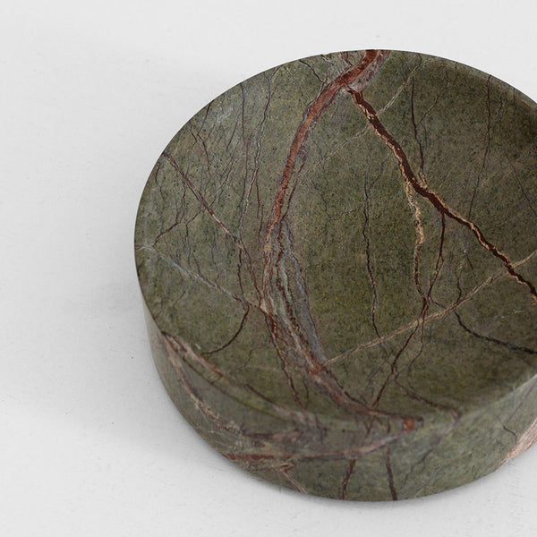 Grove Marble Dish - Forrest Green, Large