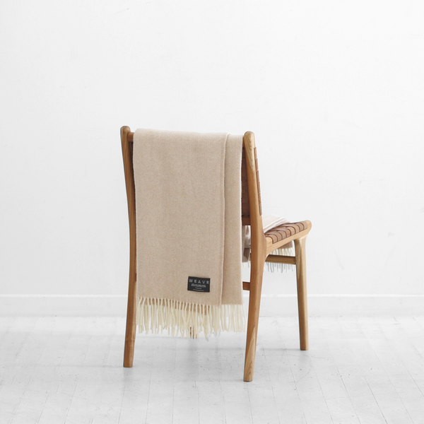Hahei Lambswool Throw - Oatmeal