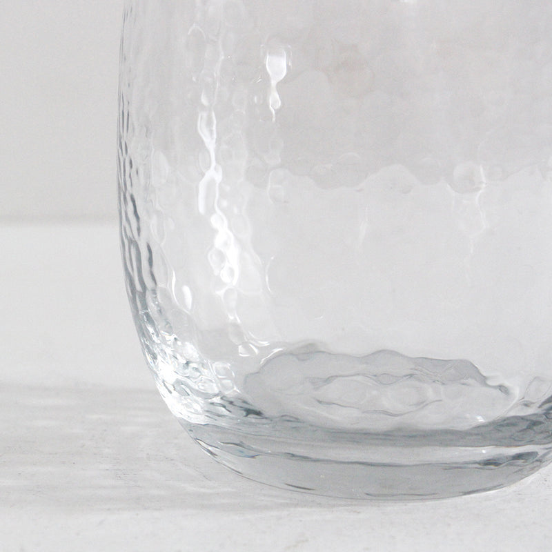 Hammered Clear Jug