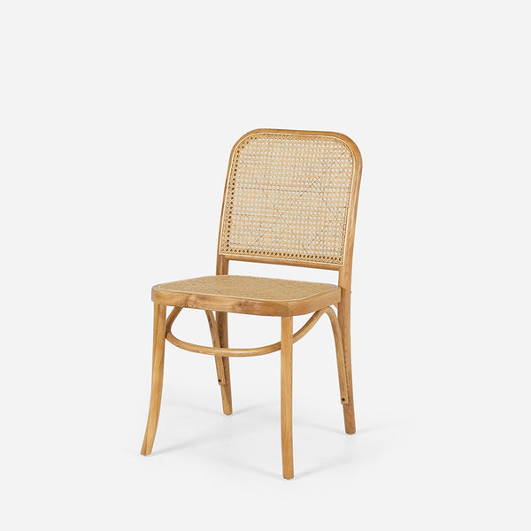 Harvey Rattan Chair - Natural Oak