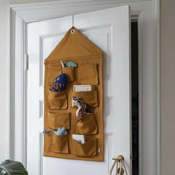 House Wall Storage - Mustard