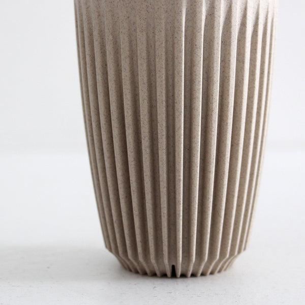 Huskee Cup with Lid - Natural 12oz
