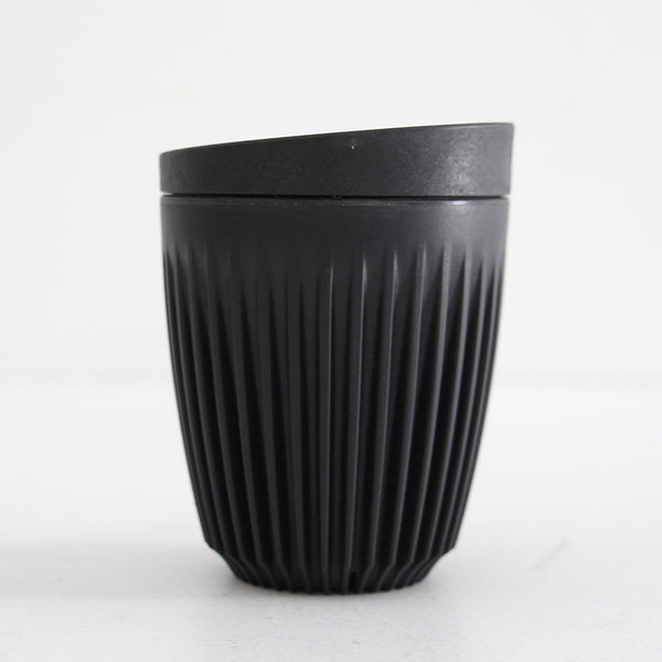 Huskee Cup with Lid - Charcoal 8oz