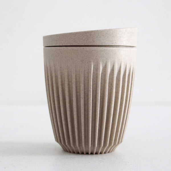 Huskee Cup with Lid - Natural 8oz