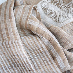 Izusa Wool/Silk Throw - Barley