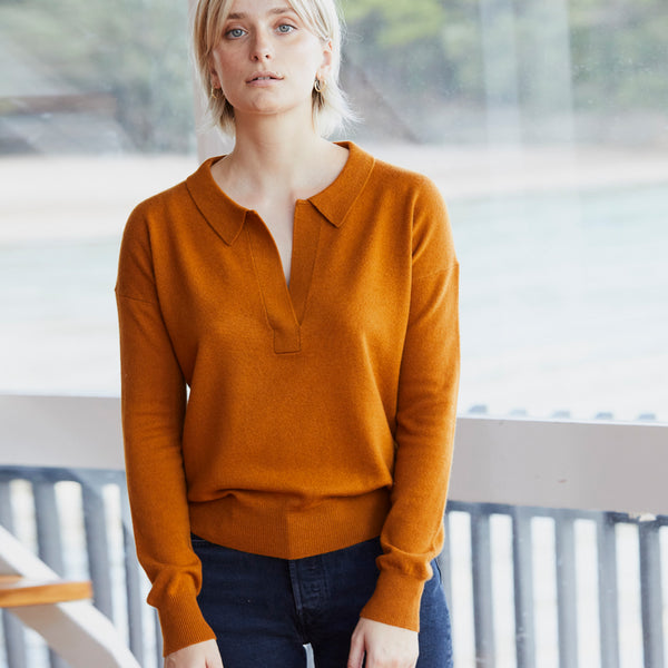James Polo Sweater - Sienna