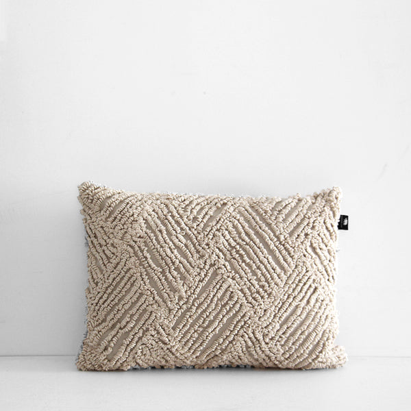 Jervis Embroidered Cushion - Natural