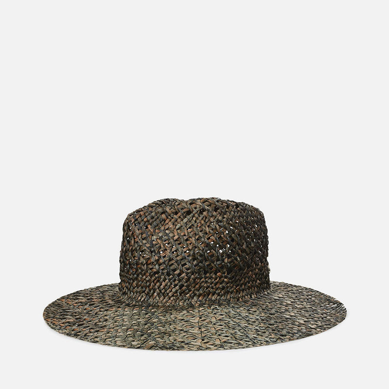 Joanna Open Weave Hat - Black