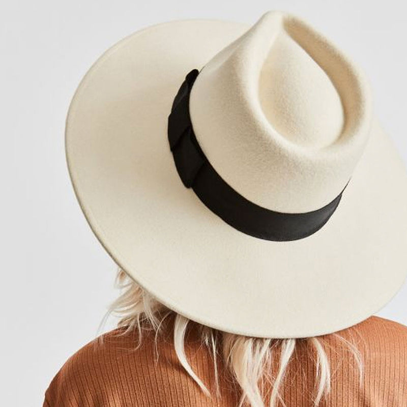 Joanna Felt Hat - Dove/Black