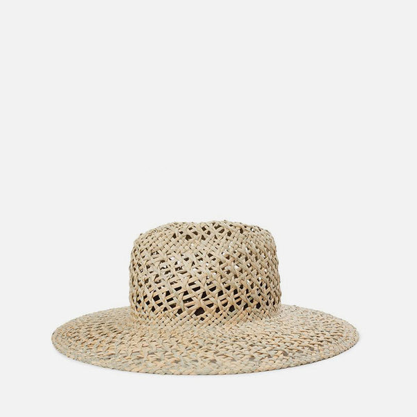 Joanna Open Weave Hat - Tan