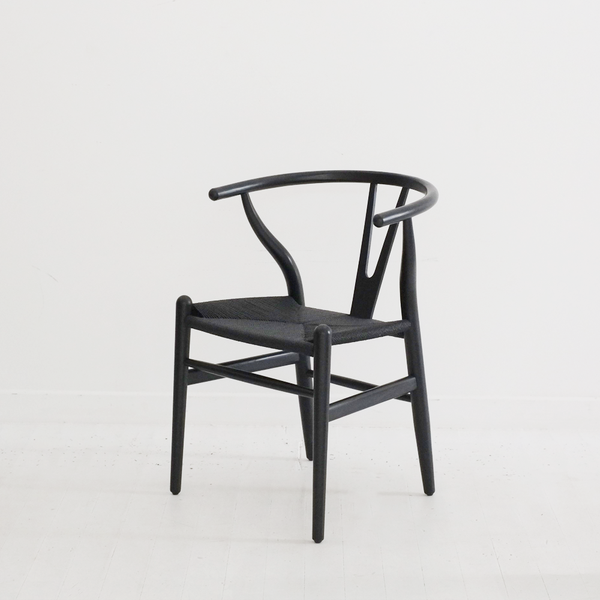 Joffre Wishbone Dining Chair - Black