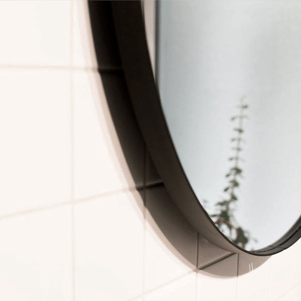 Black 800mm Outline Mirror