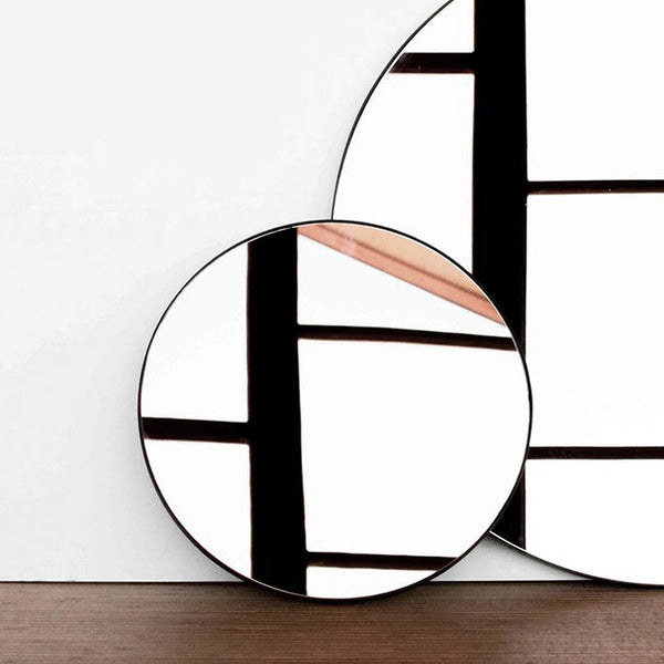 Black 500mm Outline Mirror by Joska & Sons
