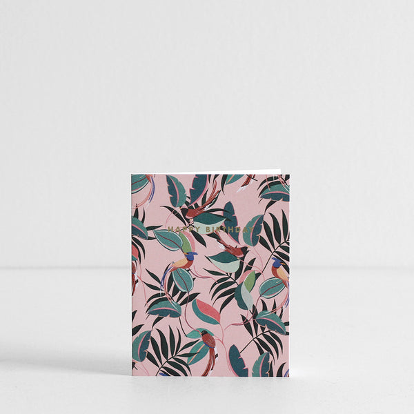 Jungle Birds Birthday Card