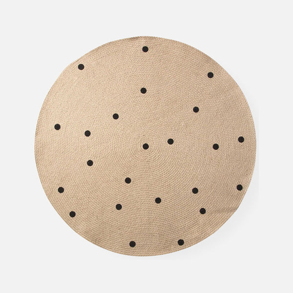 Jute Carpet - Black Dots